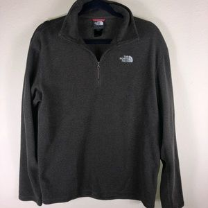 The North Face Sweaters - NORTHFACE 1/4 zip pullover jacket green fleece men